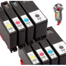 8 PACK Lexmark #150XL combo Ink Cartridges Remanufactured