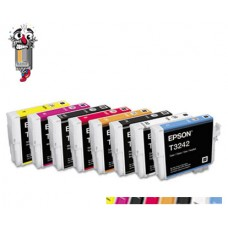 8 Piece Bulk Set Genuine Original Epson T324 High Yield combo Ink Cartridges