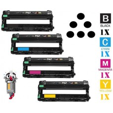 4 Piece Bulk Set Brother DR221CL Genuine Original Laser Imaging Drum Unit Set
