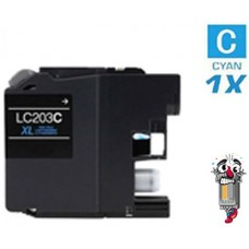 Brother LC203C standard Cyan Inkjet Cartridge Remanufactured