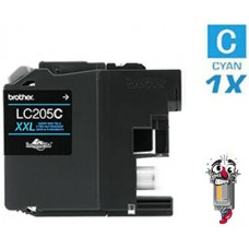 Brother LC205C Super High Yield Cyan Inkjet Cartridge Remanufactured