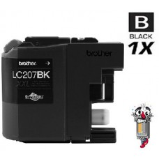 Brother LC207BK Extra High Yield Black Inkjet Cartridge Remanufactured