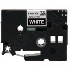 Brother TZe325 White on Black Tape (3/8