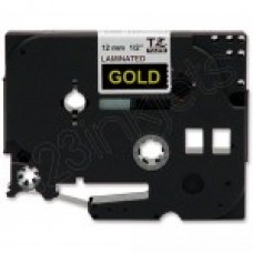 Brother TZe334 Gold on Black Tape (1/2