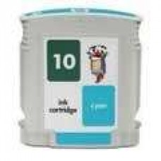 Hewlett Packard HP10 C4841A Cyan Inkjet Cartridge Remanufactured