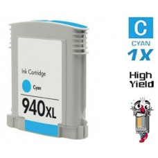 Hewlett Packard C4907AN HP940XL High Yield Cyan Inkjet Cartridge Remanufactured