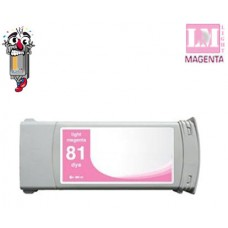 Hewlett Packard C4935A HP81LM Light Magenta Dye Inkjet Cartridge Remanufactured