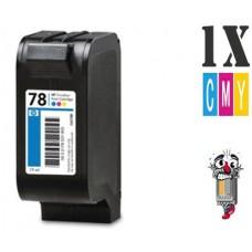 Hewlett Packard C6578DN HP78 Tri-Color Inkjet Cartridge Remanufactured