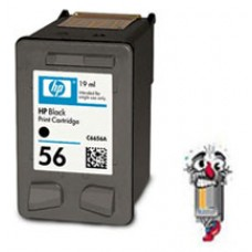 Hewlett Packard C6656AN HP56 Black Inkjet Cartridge Remanufactured