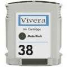 Hewlett Packard Vivera C9412A HP38 Matte Black Inkjet Cartridge Remanufactured