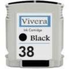 Hewlett Packard Vivera C9413A HP38 Photo Black Inkjet Cartridge Remanufactured