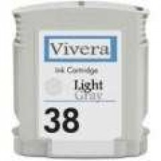 Hewlett Packard Vivera C9414A HP38 Light Gray Inkjet Cartridge Remanufactured