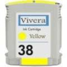 Hewlett Packard Vivera C9417A HP38 Yellow Inkjet Cartridge Remanufactured