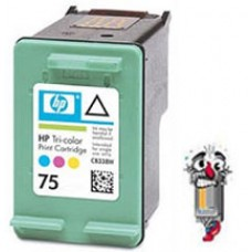 Hewlett Packard HP75 CB337WN Color Inkjet Cartridge Remanufactured