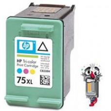 Hewlett Packard HP75XL CB338WN High Yield Tri-Color Inkjet Cartridge Remanufactured