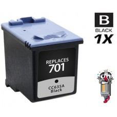 Hewlett Packard HP701 CC635A Black Pigment Inkjet Cartridge Premium Compatible