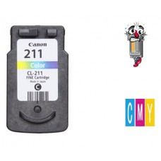Canon CL211 Regular High Yield Tri-Color Inkjet Cartridge Remanufactured