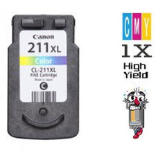 Canon CL211XL High Yield Tri-Color Inkjet Cartridge Remanufactured
