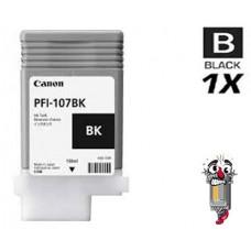 Canon PFI107BK Black Laser Toner Cartridge Remanufactured
