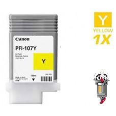 Canon PFI107Y Yellow Laser Toner Cartridge Remanufactured