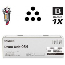 Genuine Original Canon 034 Black Drum Unit Cartridge