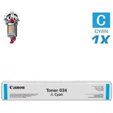 Genuine Canon 034 Cyan Laser Toner Cartridge