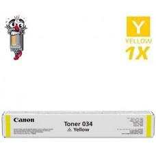 Genuine Canon 034 Yellow Laser Toner Cartridge