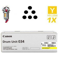Genuine Original Canon 034 Yellow Drum Unit Cartridge
