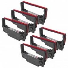 Epson ERC34PR Purple & Red Ribbon Cartridges (6 Pack) Premium Compatible
