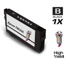 Epson T802XL DURABrite High Yield Black Ink Cartridge Remanufactured
