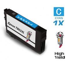 Epson T802XL DURABrite High Yield Cyan Ink Cartridge Remanufactured