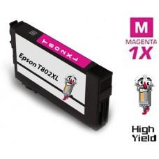 Epson T802XL DURABrite High Yield Magenta Ink Cartridge Remanufactured