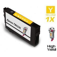 Epson T802XL DURABrite High Yield Yellow Ink Cartridge Remanufactured