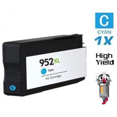 Hewlett Packard L0S61AN HP952XL High Yield Cyan Inkjet Cartridge Remanufactured