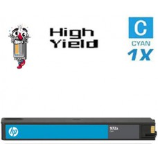Hewlett Packard HP972X L0R98AN High Yield Cyan Ink Cartridge Remanufactured