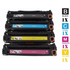 4 Piece Bulk Set Hewlett Packard HP128A combo Laser Toner Cartridges Premium Compatible