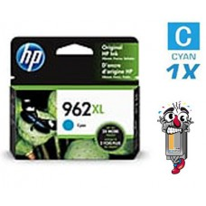Genuine Original Hewlett Packard HP962XL High Yield Cyan Inkjet Cartridge