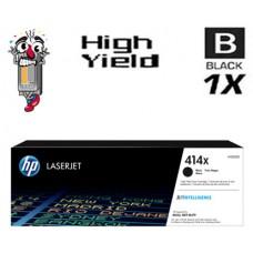 Genuine Hewlett Packard HP414X W2020X High Yield Black combo Laser Toner Cartridges