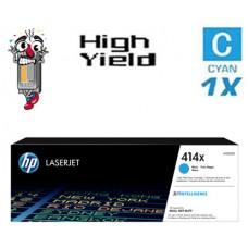 Genuine Hewlett Packard HP414X W2021X High Yield Cyan combo Laser Toner Cartridges