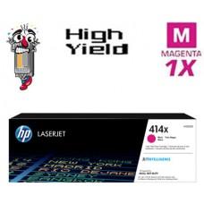 Genuine Hewlett Packard HP414X W2023X High Yield Magenta combo Laser Toner Cartridges