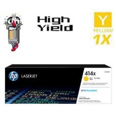 Genuine Hewlett Packard HP414X W2022X High Yield Yellow combo Laser Toner Cartridges