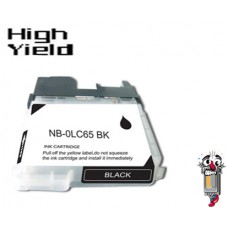 Brother LC65BK High Yield Black Inkjet Cartridge Remanufactured