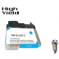 Brother LC65C High Yield Cyan Inkjet Cartridge Remanufactured