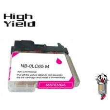 Brother LC65M High Yield Magenta Inkjet Cartridge Remanufactured