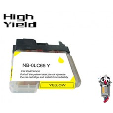 Brother LC65Y High Yield Yellow Inkjet Cartridge Remanufactured