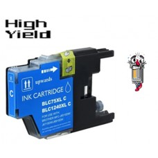 Brother LC75C High Yield Cyan Inkjet Cartridge Remanufactured