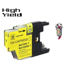 Brother LC75Y High Yield Yellow Inkjet Cartridge Remanufactured