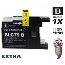 Brother LC79BK Extra High Yield Black Inkjet Cartridge Remanufactured