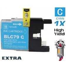 Brother LC79C Extra High Yield Cyan Inkjet Cartridge Remanufactured