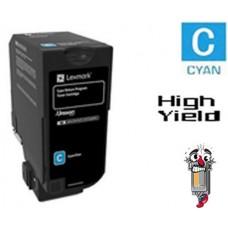 Genuine Lexmark 74C1SC0 Cyan Laser Toner Cartridge